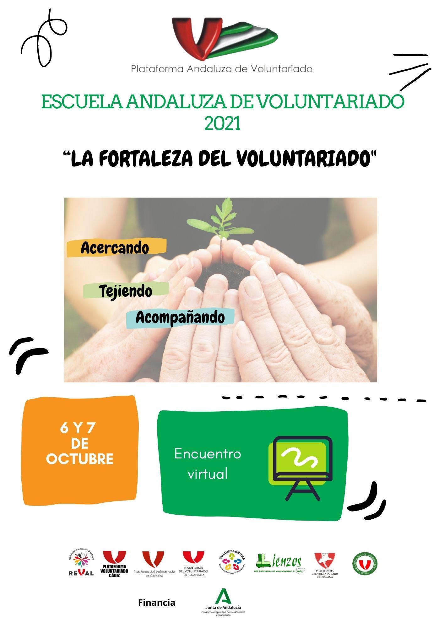 cartel Escuela Andaluza de Voluntariado